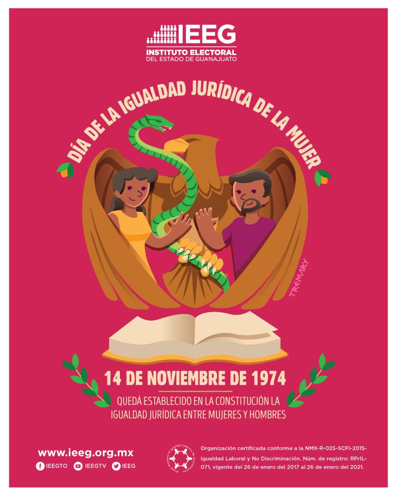 14 de noviembre Día de la igualdad jurídica de la mujer