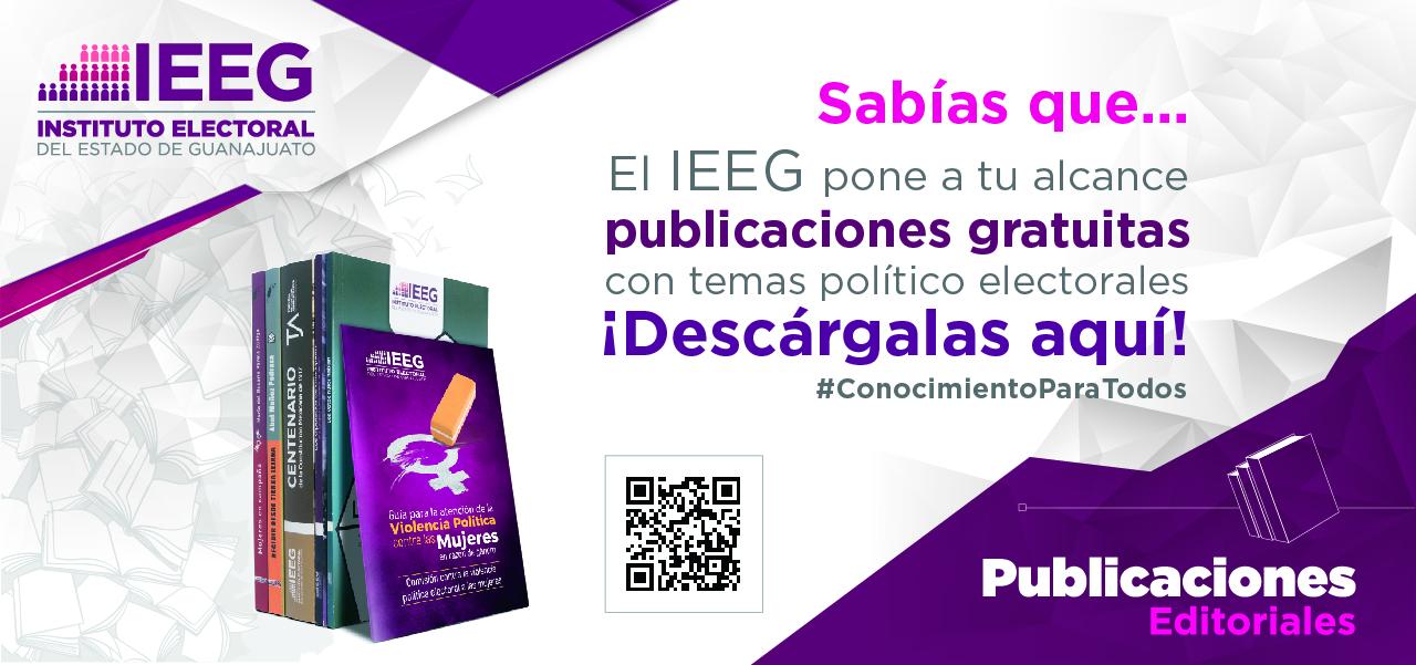 Descarga aquí, publicaciones gratuitas con temas político electorales