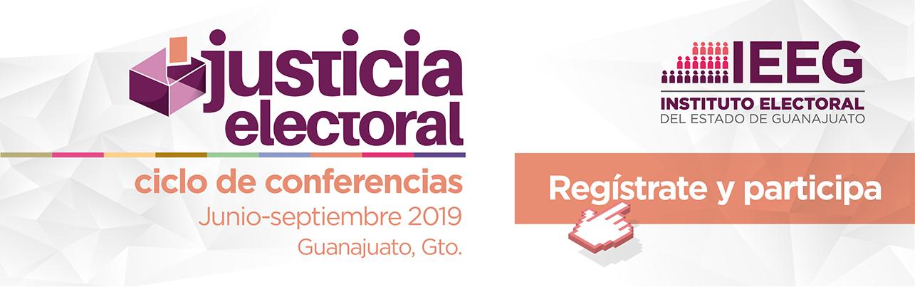 Justicia electoral, ciclo de conferencias
