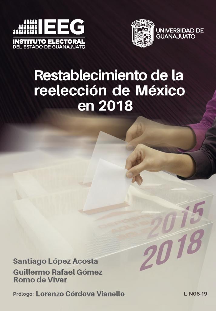 Libro Restablecimiento de la reelección de México en 2018