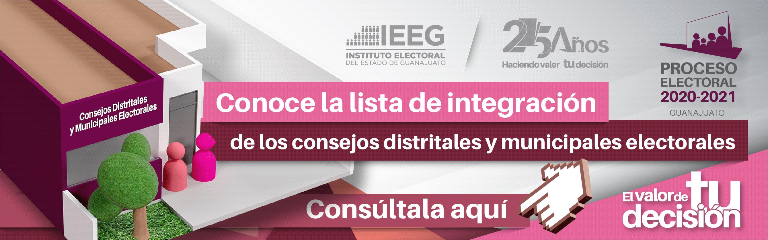 INTEGRACIÓN DE LOS CONSEJOS DISTRITALES Y MUNICIPALES