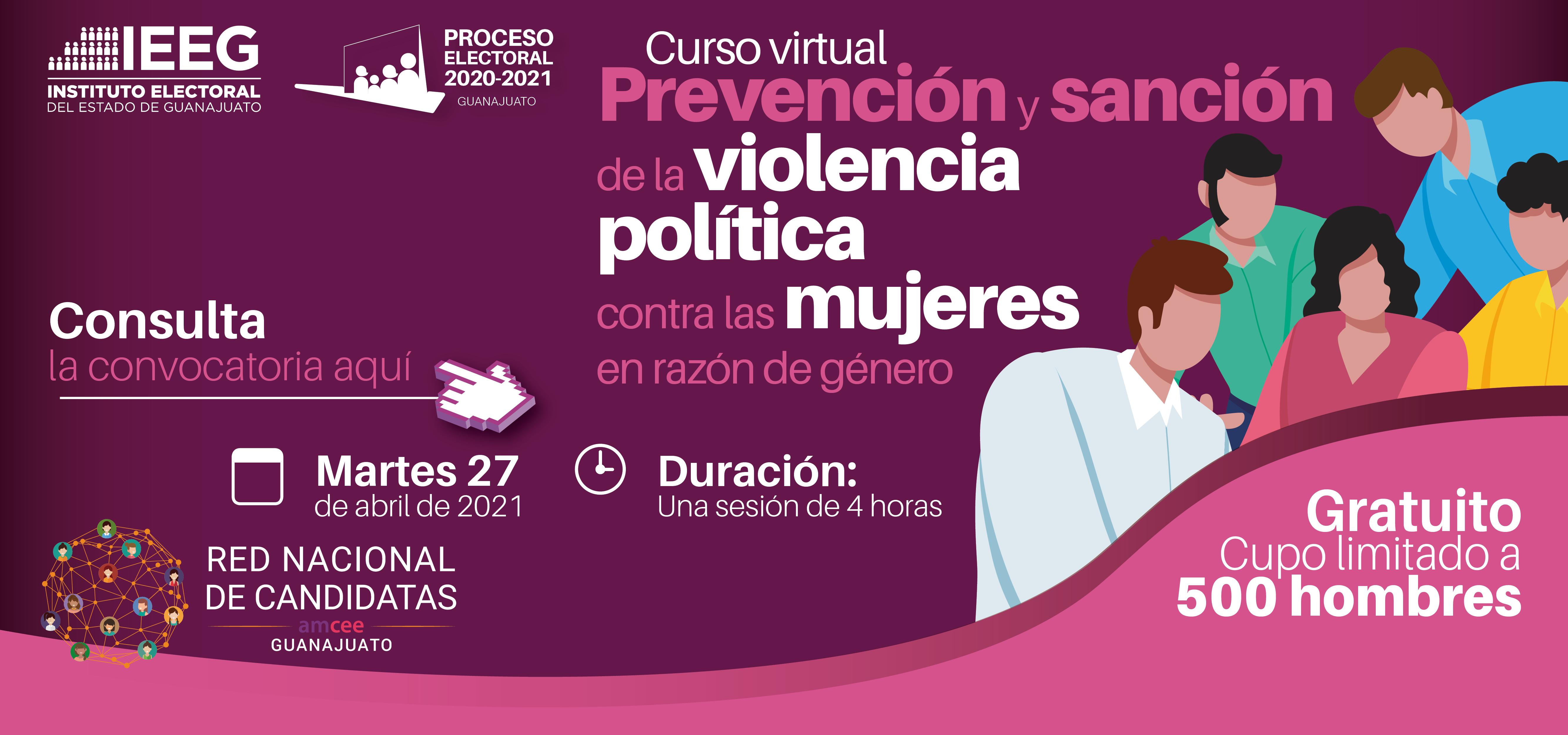 Convocatoria Curso Virtual Prevención y Sanción Violencia Política Contra La Mujer