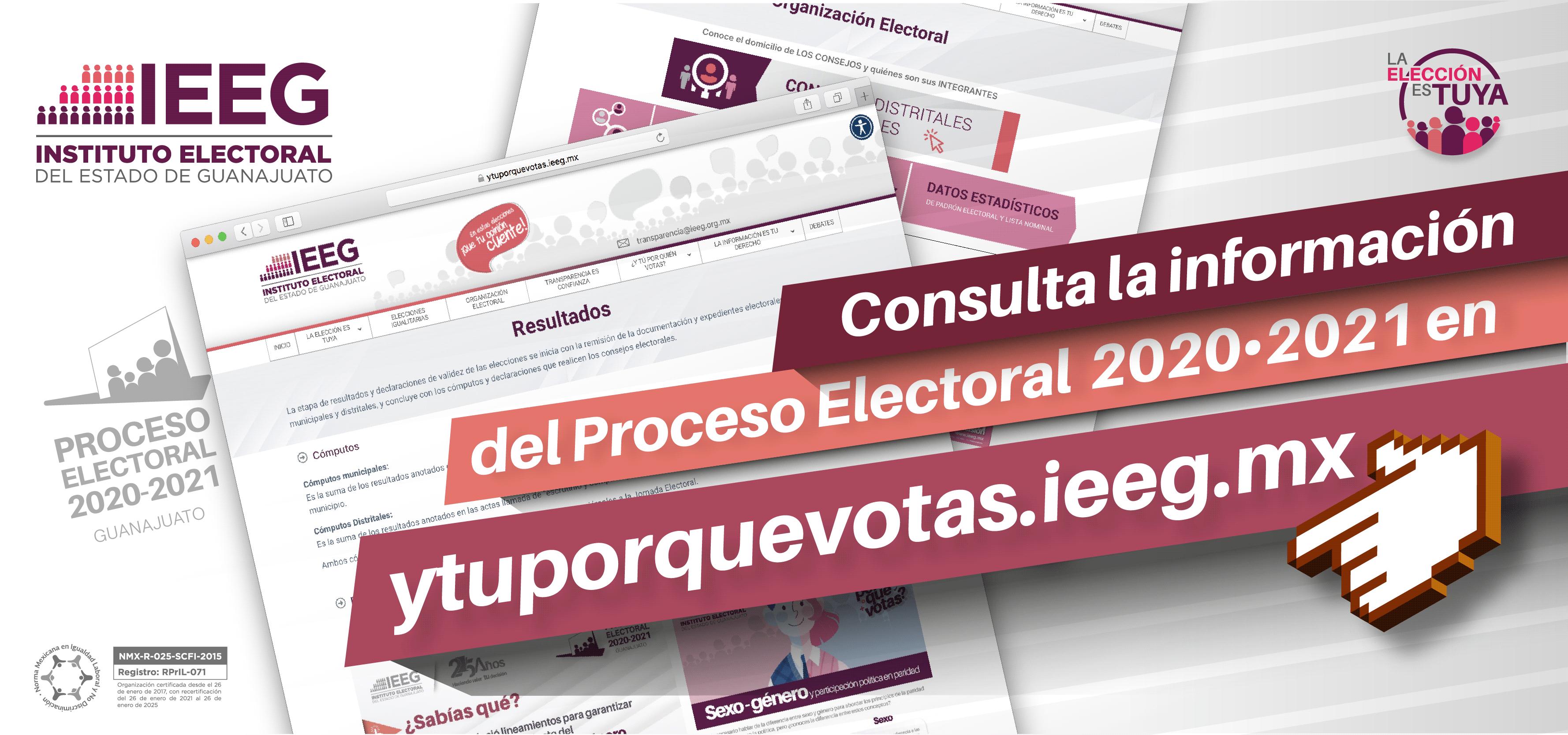 Conoce todo sobre el proceso electoral 2020-2021